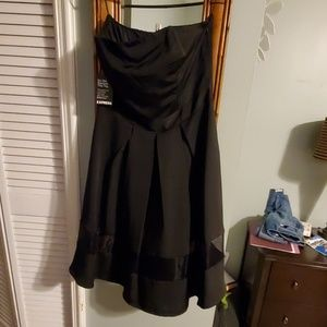 Black strapless express dress